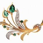 Изысканные золотые или серебряные броши