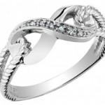 кольцо восьмеркой