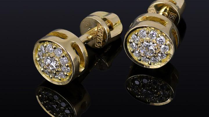 Пусеты с бриллиантами — серьги, которые должны быть у каждой
